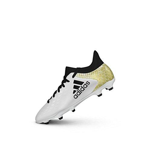 Adidas X 16.3 FG J, Botas fútbol Niños, Blanco Ftwbla/Negbas/Dormet