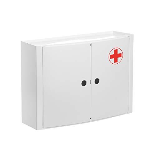 TATAY 4480209Armadietto Orizzontale 2Ante Farmacia Plastica Bianco 46x 155x 32