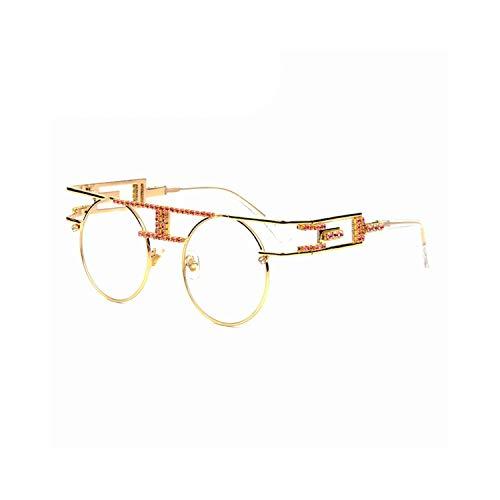FGRYGF-eyewear2 Sport-Sonnenbrillen, Vintage Sonnenbrillen, High Quality Metal Frame Steampunk Sunglasses Women Brand Designer Handmand Round Men Gothic Sun Glasses Vintage Eyeglasses clear
