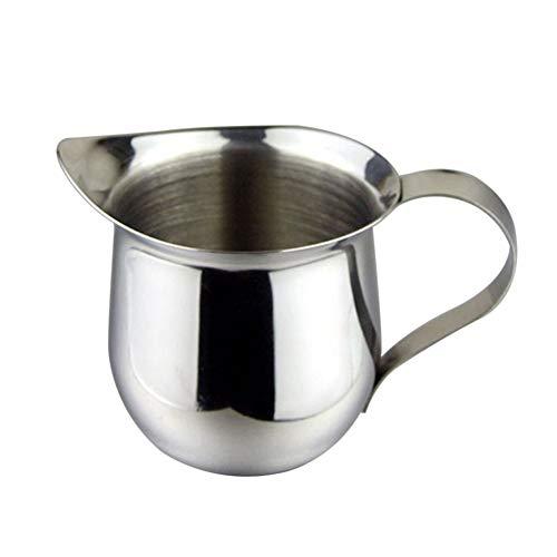 xMxDESiZ 60/85 / 150ml Tragbarer Milchbecher Edelstahl Coffee Shop Cup Krug mit Griff 85ml