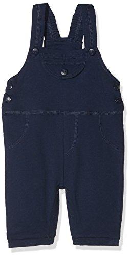 Schnizler Unisex Baby Sweat, Babyhose, Oeko-Tex Standard 100 Latzhose, Blau (Marine 11), 80 (Latzhose Baumwoll)