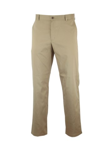 Dwyers & Co 2012 Herren Tech Flache Front Chino Golf Hose - Khaki - 32-33 (Flache Front Hosen)