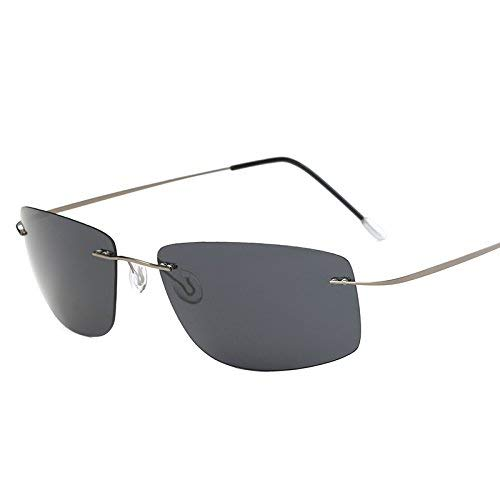 Schutz Sonnenbrillen Mit Etui Polarized Titanium Silhouette Sonnenbrillen Polaroid Markendesigner Gafas Men Square Sonnenbrillen Sonnenbrillen für Männer, Frauen Gläser Fahren