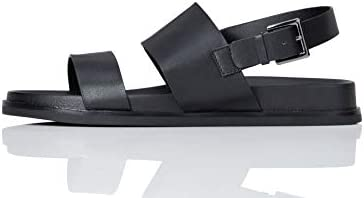 Amazon-Marke: find. Leather Sports Damen Offene Sandalen