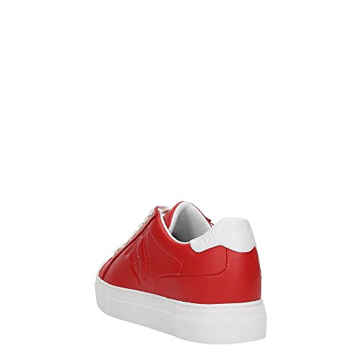 Trussardi Jeans 79s60753, Sneaker a Collo Basso Donna White/Red