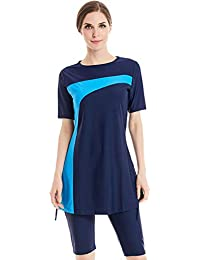 8ab572cfc6c TianMai 2019 New Muslim Swimwear Islamic Women's Short Sleeve Modest  Swimsuit Beachwear Burkini Lady Rash Guard