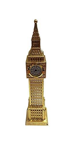 Reloj analógico de metal Big Ben, color dorado/ideal para cocina, dormitorio, sala de estar u oficina/Londres...