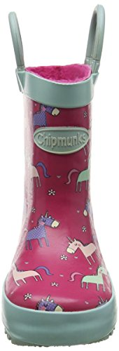 Chipmunks Angelica, Work Wellingtons fille Pink (Pink Multi)