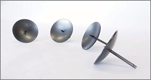 Kerzenhalter zum Stecken mit Dorn für Stumpenkerzen pulverbeschichtet Schirmdurchmesser 70 mm Stabdurchmesser 5 mm