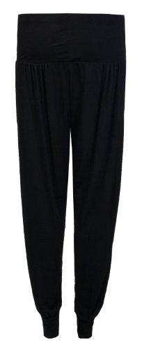 Fashion fast pantalon pour femme long sur les côtés ouverts Noir - Noir