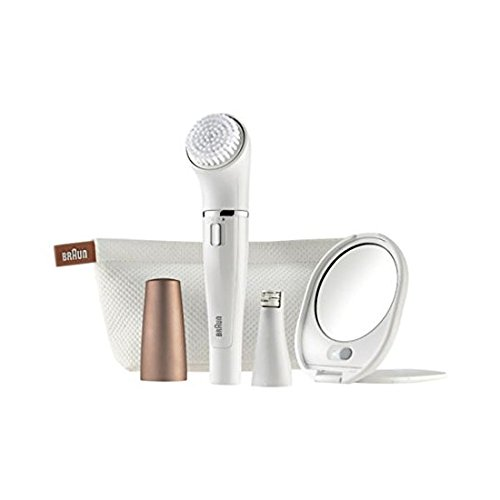 High Quality Braun Face 831 Beauty edition - Facial cleansing brush and epilator with lighted mirror and beauty pouch by Braun