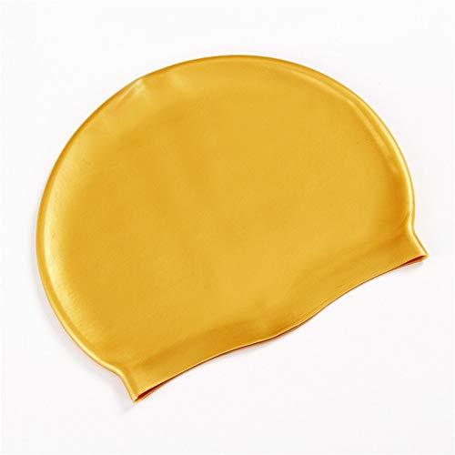 TAOtTAO Erwachsener Schwimmen-Schwimmen-Kappe bequemer Hut-wasserdichte Badebekleidungs-Zusatz-Hüte Komfortable wasserdichte Badekappe (G)