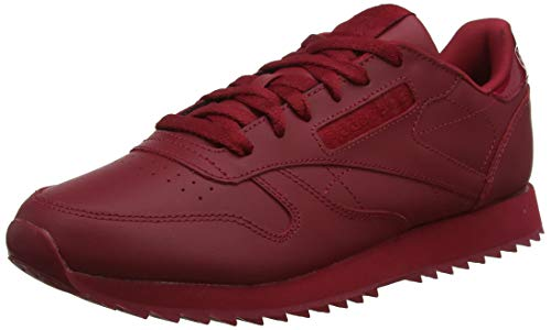 Reebok Damen Classic Leather Ripple Fitnessschuhe, Rot (Cranberry Red 0), 36 EU