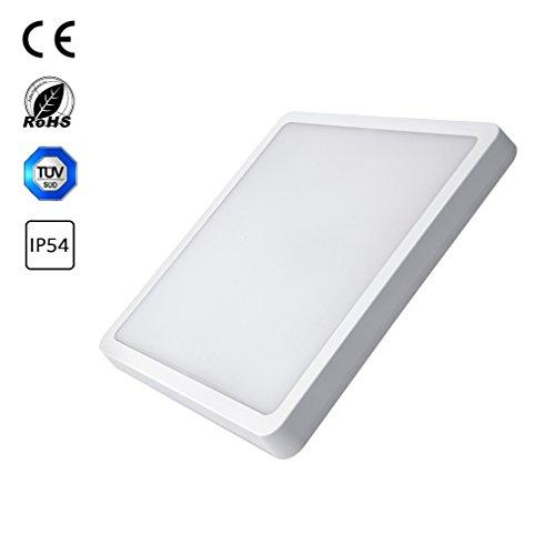 J&C 36W LED Ceiling light Quadrat Deckenleuchte Deckenlicht für Badezimmer naturweiß IP44 1Stücke