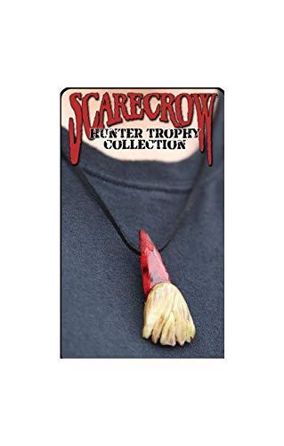 Horror-Shop Zombie Zahn Halskette (Kostüm Zombie Zubehör Jäger)
