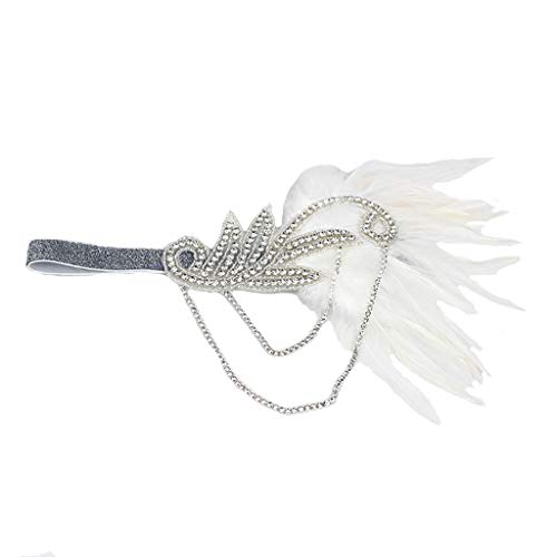 pper Kleid Quaste Feder mit kleinen Diamanten Kopfschmuck Stirnband Cocktail Party Pferde Mädchen Frauen bunt ()