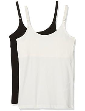 MAMALICIOUS, Camiseta de Tirantes Premamá para Mujer (Pack de 2)