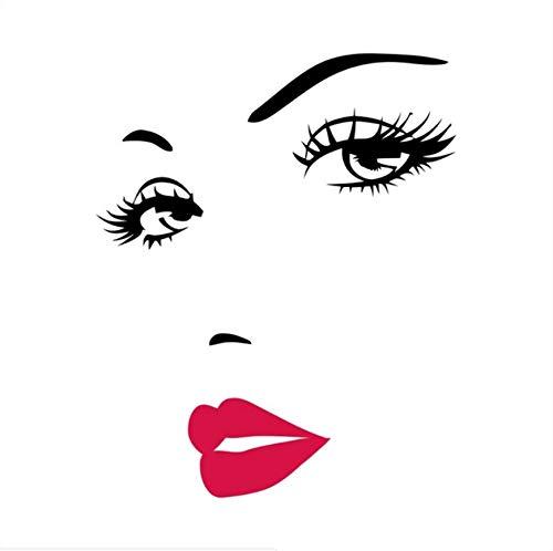 HHZDH Wandaufkleber Gesicht Augen Und Lippen Wandkunst Aufkleber Malerei Zimmer Dekoration Fertige Größe 70X57 cm Weihnachten
