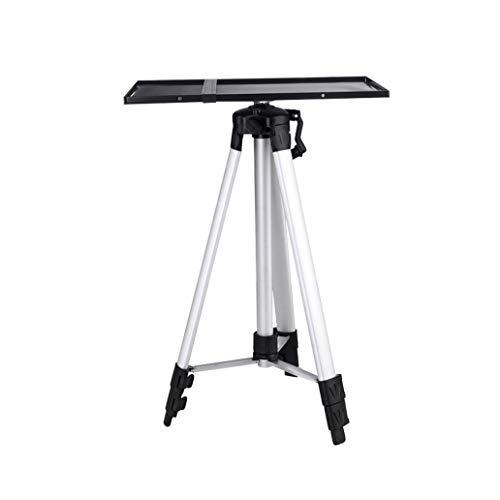 Qucking Light Projektor-Ständer, Falte Heavy Duty Stativ Basis und alle Metall Regal/Tray tragbare einstellbar für Heimkino/Unterhaltung & Präsentation Heavy Duty Tray