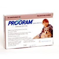Program Medium Dog Tablets 204.9mg from Novartis Animal Health