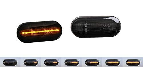 Dynamische Sequentielle LED Seitenblinker Blinker Laufeffekt Smoke Dunkel 0611LG
