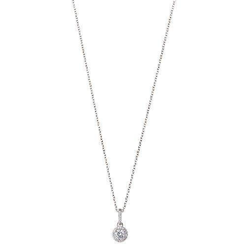 XENOX XS7360 Damen Collier Silver Circle Sterling-Silber 925 Silber weiß Zirkonia 45 cm
