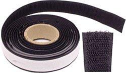 Klebeband - Klett-Hakenband - für Holz- und 20 mm, weiss, 25m Rolle