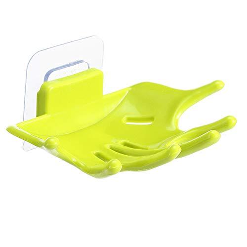 (Gmgqsago Badezimmer-Duschschwamm, Wandmontage, Seifenablage, Ablagehalter, Orange grün)