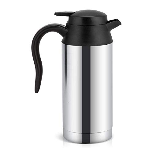Miji Travel Car Kettle 12V Heater Bottle Pot for Camping Boat Lorry Truck  Cigarette Lighter Heating Kettle Electric Mug Thermos, 750ml Stainless  Steel