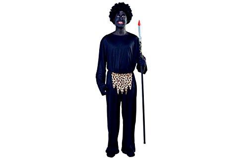 (eurocarnevales Kannibalenkostüm Kannibale Dschungel Krieger Kostüm Herren Gr. L)
