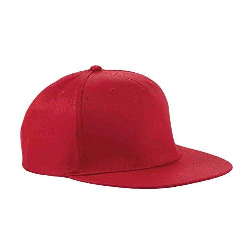 ESYN Pure Color Unisexe Plaine Snapback Hat Retro Baseball Cap Hip-Hop réglable Vintage Chapeaux red