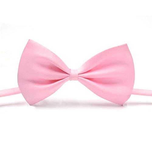 KOBWA Haustier Kostüm Fliege Rosa Einstellbar Hund Katze Bogen Krawatten Handgemachte Fliege Halsbänder für Katzen Hunde Welpen Grooming Zubehör (Katze Bogen Krawatte Kostüm)