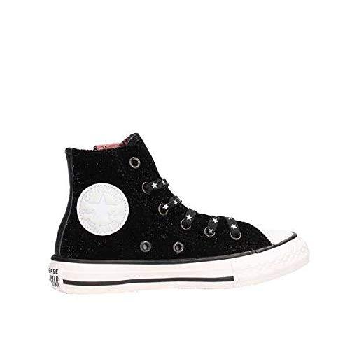 Converse Unisex-Kinder Chuck Taylor CTAS Side Zip Hi Sneakers, Mehrfarbig (Black/White/Rust Pink 001), 28 EU