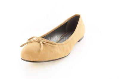 Klassische Ballerinas mit Schleife. TG104PULL Camel