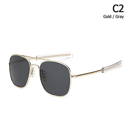 ZHOUYF Sonnenbrille Fahrerbrille Mode Polarisierte Ao Armee Militärischen Stil Luftfahrt Sonnenbrille Männer Fahren Markendesign Sonnenbrille Oculos De Sol, B