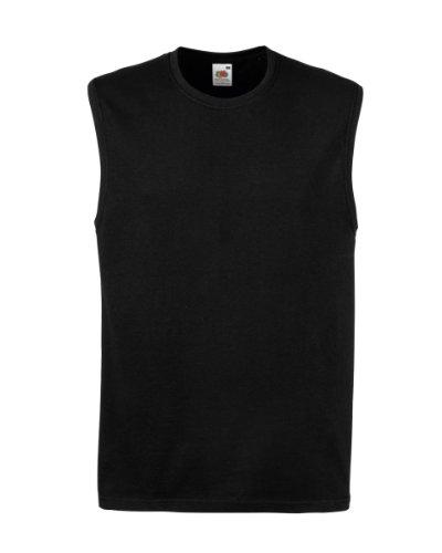 Fruit of the Loom Sleeveless Tank Top T shirt black - XL