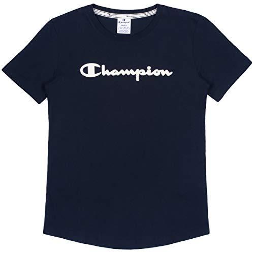 Champion T-Shirt Damen 112019 F19 BS501 NNY Dunkelblau, Blau, M