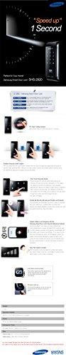 Samsung Digitales de Puertas Inteligentes SHS EZON Cerradura electrónica 292 de Tipo Táctil sin Llave con Etiquetas Claves 2 pcs