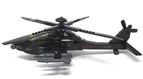 Modbrix 1484020 – ★ Bausteine Apache AH-64 Kampf Hubschrauber mit LED Beleuchtung & Sound inkl. custom US ARMY Special Forces Soldaten aus original Lego© Teilen ★ - 3