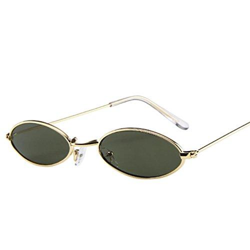 Vovotrade Sonnenbrille, Mode Mens Womens Retro kleine ovale Sonnenbrille Metallrahmen Shades Eyewear kleinen Rahmen Brillen Sonnenschutz für Reisen fahren (F)