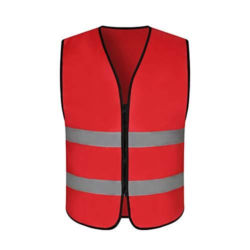 WYX Reflektierende Sicherheitsweste High Visibility Executivarbeits Sicherheit Zip Vest Outdoor Laufen Radfahren Sport Weste,a,M -