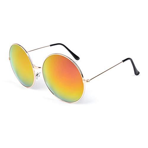 Gxy Mens Frauen Aviator Sonnenbrille Mirrored Metal Frame UV 400 Schutz (Color : E)