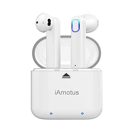 QueenDer Auricolari Bluetooth 5.0 Cuffie Senza Fili Earphones con Microfono, Resistente all'Acqua Sport Earbuds Riduzione del Rumore Stereo HD per Cellulari iPhone Samsung y Dispositivi Bluetooth