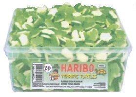 Price comparison product image HARIBO TERRIFIC TURTLES - BUBBLE GUM FLAVOUR SWEET FOAM GUMS SWEETS 300 PIECES