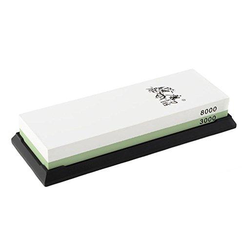 TOMTOP TAIDEA 3000/8000 Grit Kombination Korund Schleifstein doppelseitige Messer Schärfstein für Sushi Küchenmesser