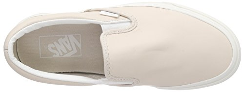 Vans Classic Slip-On, Baskets Basses Mixte Adulte Rose (Leather/Whispering Pink/Blanc de Blanc)