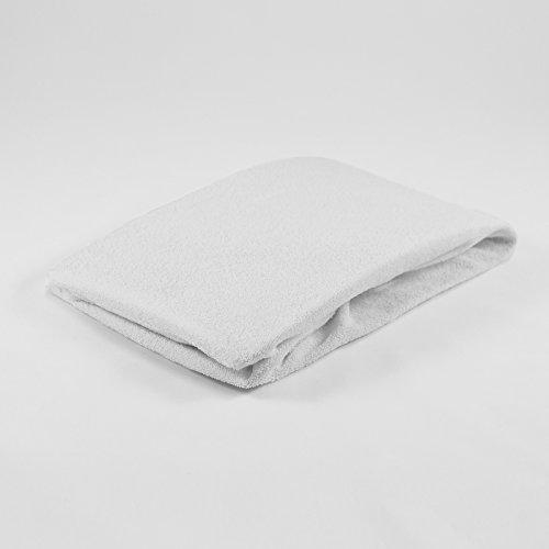 Frottee Spannbettlaken 40 x 90 cm weiß Laken Bettlaken Wiege Spannbetttuch Betttuch