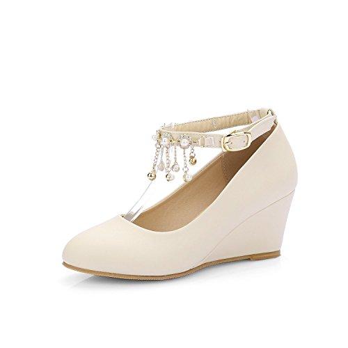SDKIR-l'arrivée de diamants de chaussures à talons petites filles boucle seul chaussures chaussures plates trente - cinq beige
