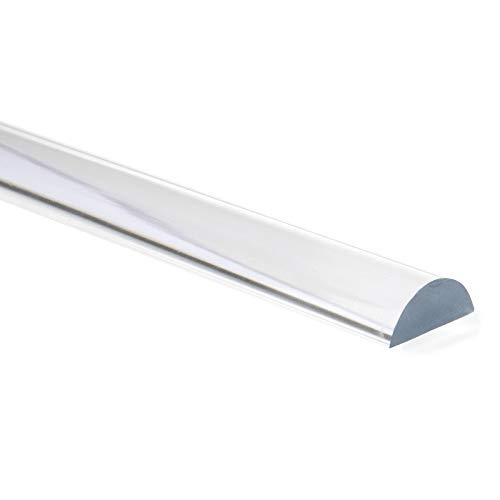 Acrylhalbrundstab als Schwallschutz für Duschen,Schwallschutzleiste transparent 20x8mm 100cm