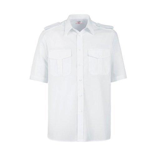 Greiff Classixx Herren Pilothemd 6603 kurzarm (45/46 - 2XL, weiß)